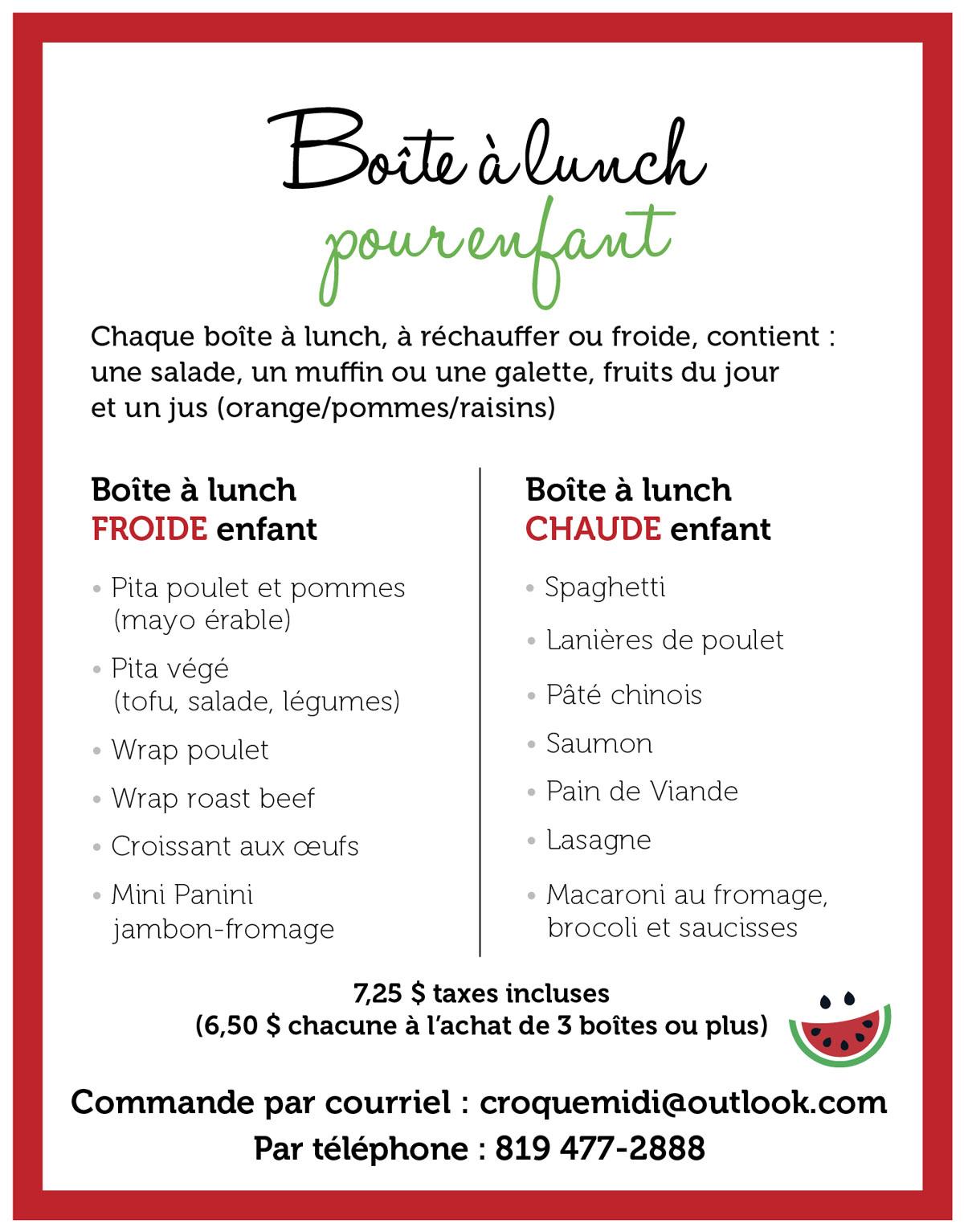 Boîte à lunch pour enfant